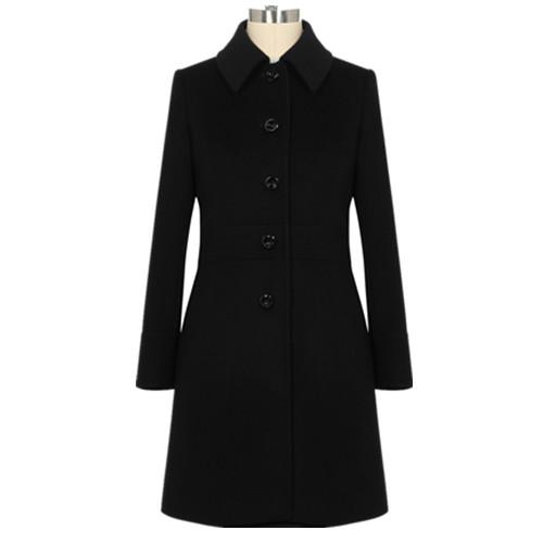 女副总士纯驻马水仙黄店羊毛呢子大衣
