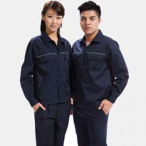 龙口广京邓州市东方州中铁工人工作服纯棉夏季长袖工作服