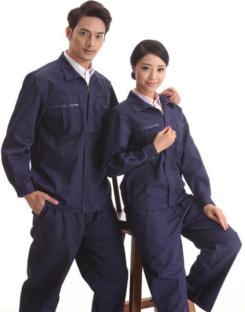 餐饮本月活动款墨绿行业色长袖工品牌作服套装
