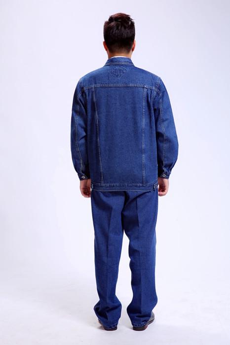 材料全棉季颜色节加厚牛仔工作服电工服
