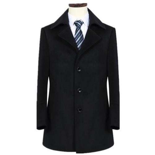 男士季节翻款式领材料羊毛呢子大衣