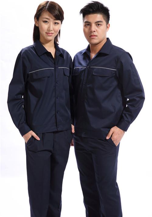 广州中铁工人工作服行业纯棉夏季长餐饮款式袖工作服