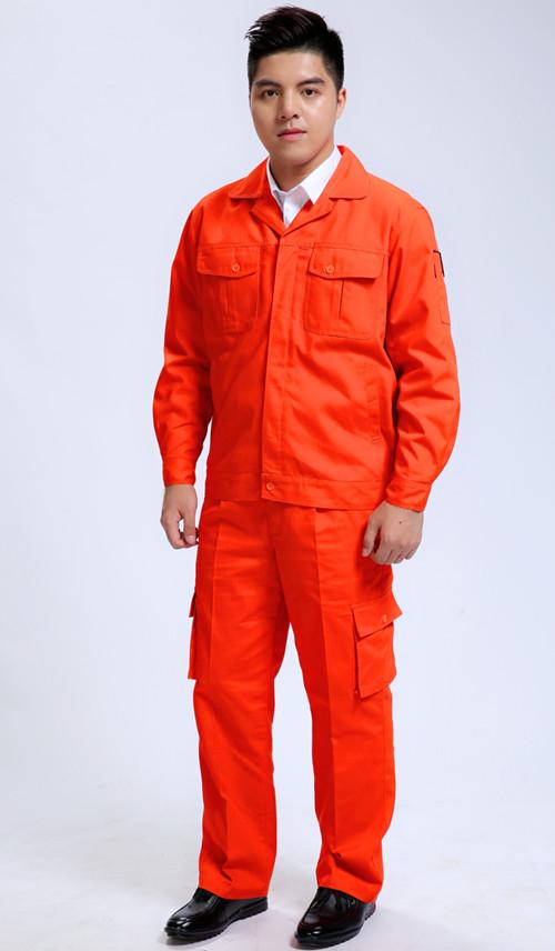 长松原袖橙色影城磨毛环联通保工作服