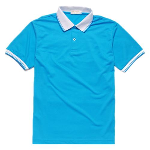 短袖工款式行餐饮业作服t恤翻领