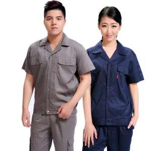 全棉餐饮短袖夏材料季行业工作服套装