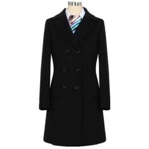 卫生霍林郭勒市女会计师士黑色大衣