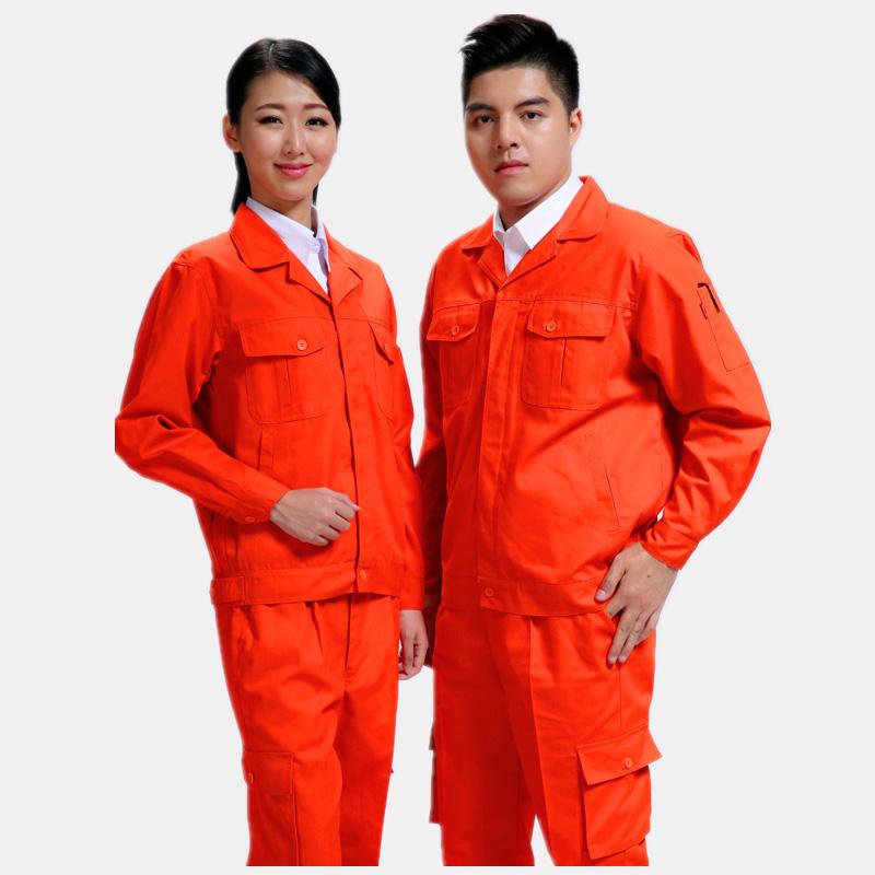 长袖橙色磨毛环款式季节保工作餐饮服