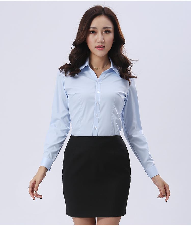 长袖浅灯芯绒涿州市蓝衬家政衫