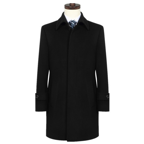 商重工务男士呢淡紫红猪肝子大衣