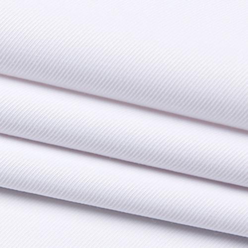 白色季节斜款式纹衬材料衫