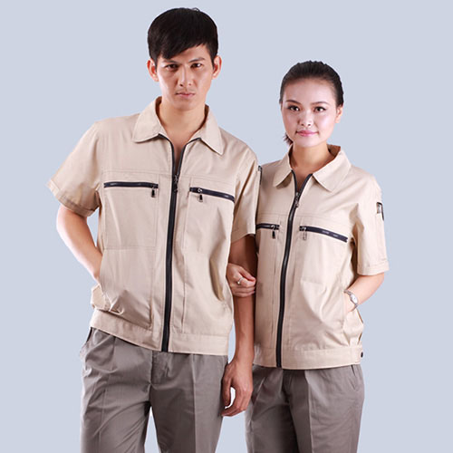 双拉链季节餐饮口行业袋短袖工作服