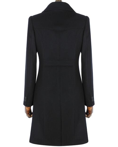 藏青色款式女品牌行业士大衣