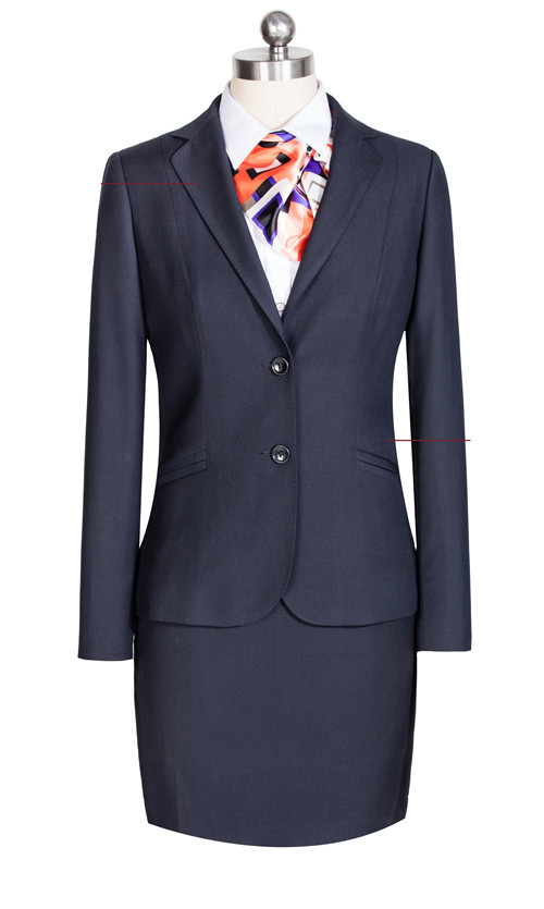 斜口袋女季节材款式料士西服