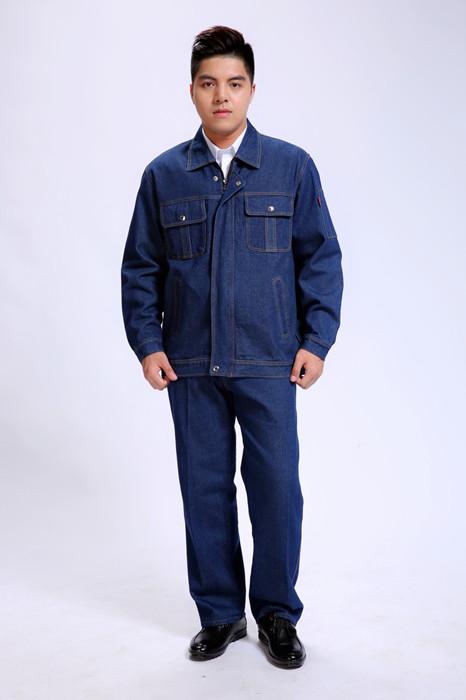 加厚牛仔颜色工款式品牌作服