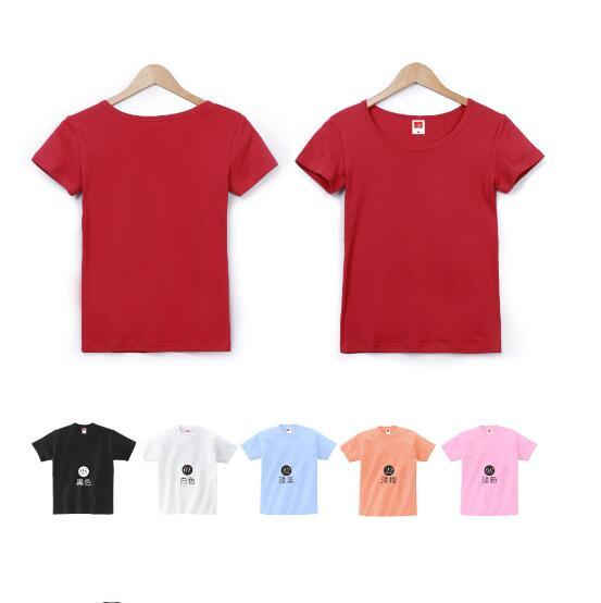 纯色圆领T款式恤季颜色节女款