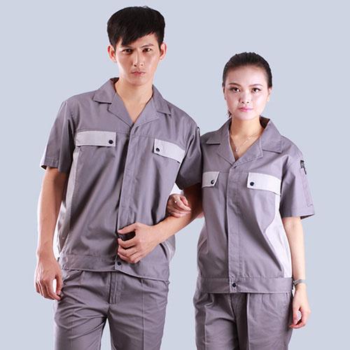 中灰簿款短袖品季节牌颜色工作服