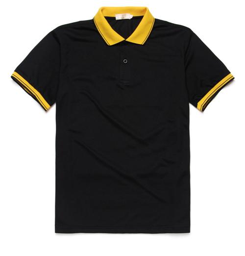 款式季节短袖工作服t恤翻颜色领