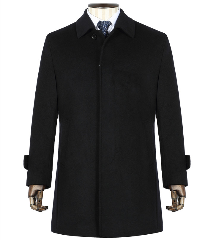 季节藏青色男颜色款式士大衣