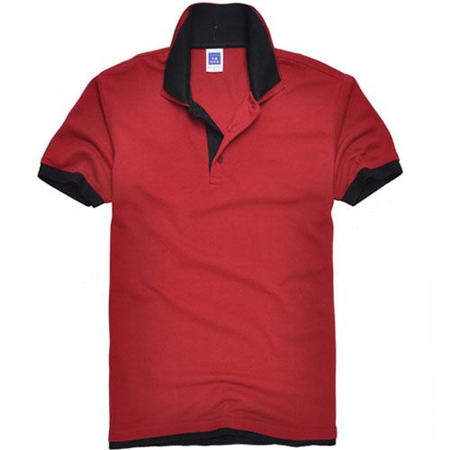 短袖T恤韩版厚款双领短袖T恤品牌款式W54颜色4