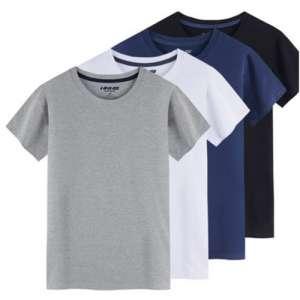全棉季节短颜色袖T恤品牌衫男款