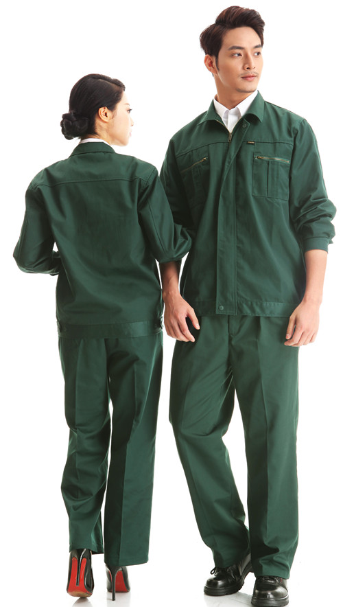 颜色本月活季节动款墨绿色长袖工作款式服套装