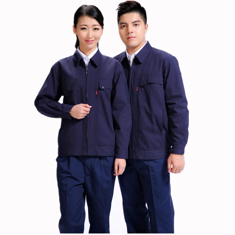 纯棉秋冬双季节层带里工款式作服加品牌厚