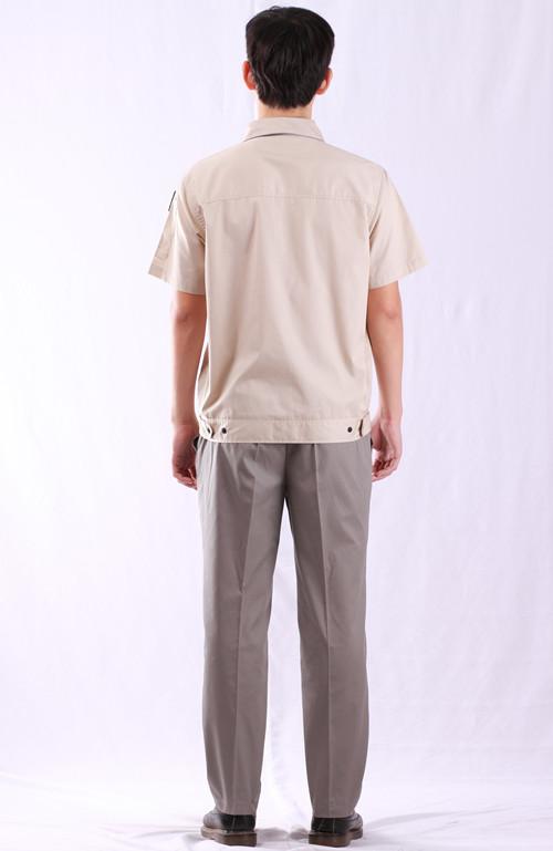 双季节立体颜色袋工作款式服短袖夹克