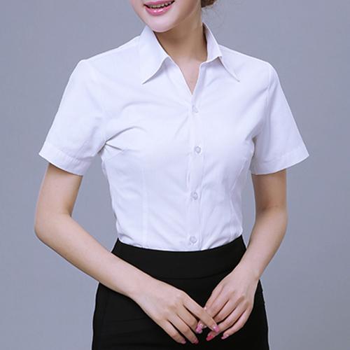 白季节色斜纹品牌衬颜色衫