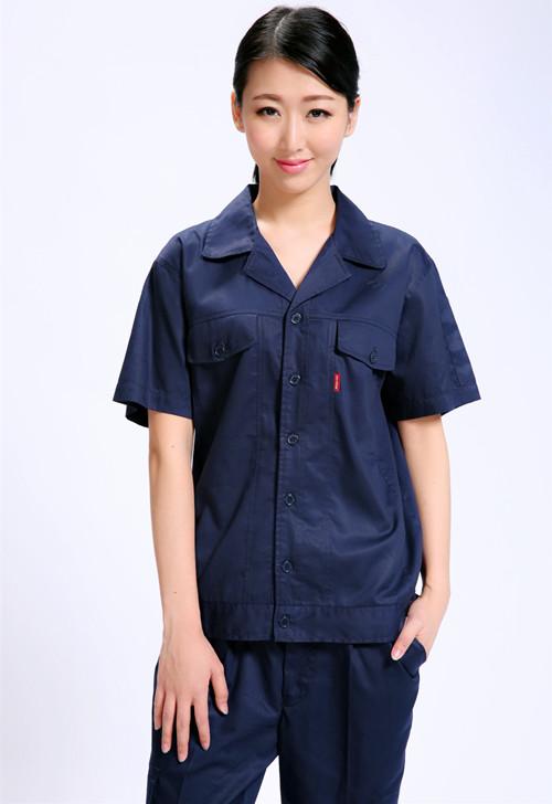全棉短袖季节颜色夏季工作服款式套装