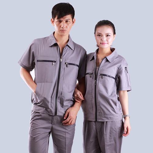 款式双拉链口袋品牌颜色短袖工作服
